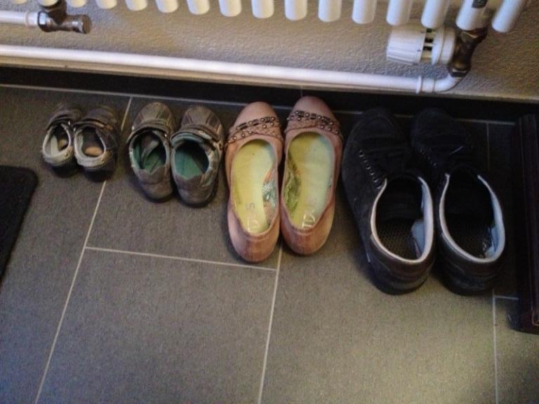Schuhreihe
